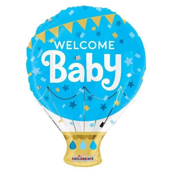 Globo Mylar Welcome Baby Boy