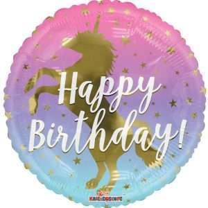 Globo Mylar Happy Birthday Unicornio