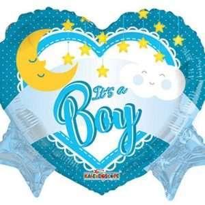 Globo Mylar Baby Boy Heart