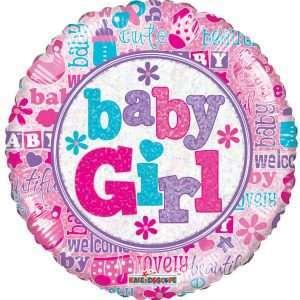 Globo Mylar Baby Girl
