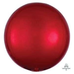 Globo Mylar Orbz Rojo