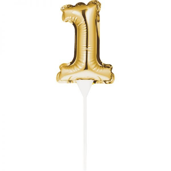 Cake Topper 1 Dorado (Inflable)