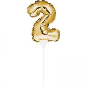 Cake Topper 2 Dorado (Inflable)