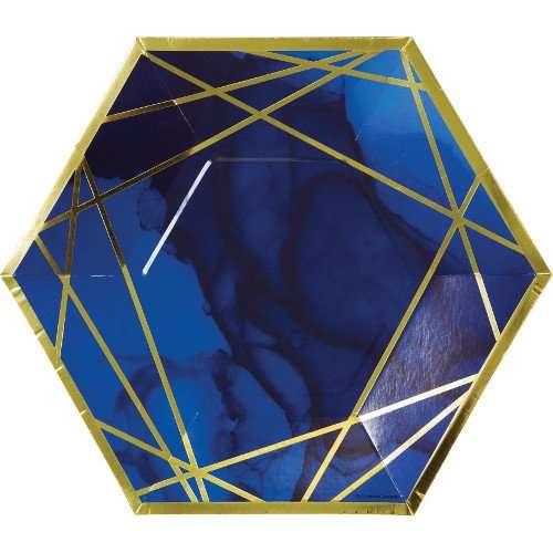 Plato de Carton Blue-Gold