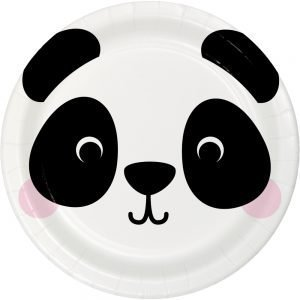 Plato de Carton de Panda