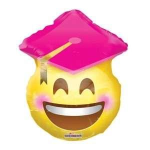 Globo Mylar Smiley Graduación