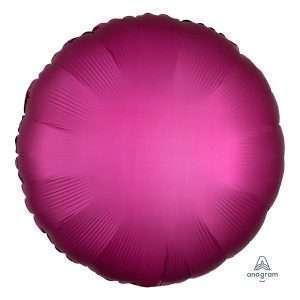 Globo Mylar Satin Pomegranate