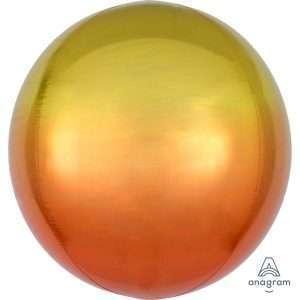 Globo Mylar Ombre Orbz Naranja/Amarillo