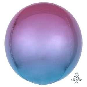 Globo Mylar Ombre Orbz Rosado/Azul