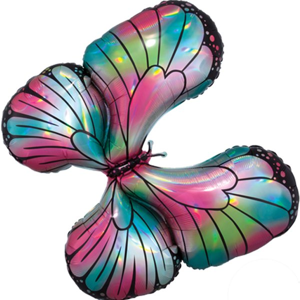 Globo Mylar Mariposa Iridiscente