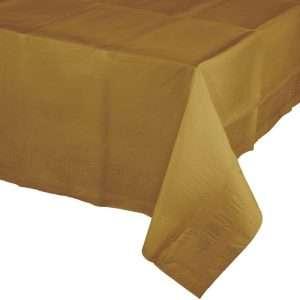 Mantel Plástico Dorado