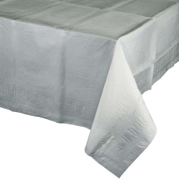 Mantel de Plástico Plateado