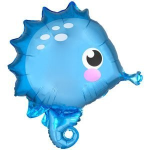 Globo Mylar Caballito de Mar Azul