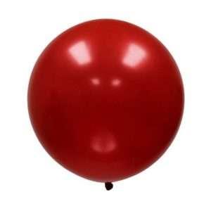 Globo Gigante Rojo Cereza Metálico