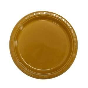 Plato Plástico Dorado