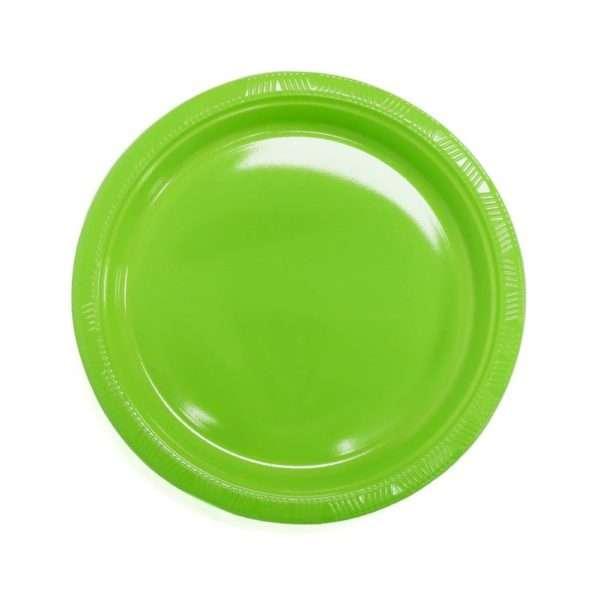 Plato Plástico Verde Lima