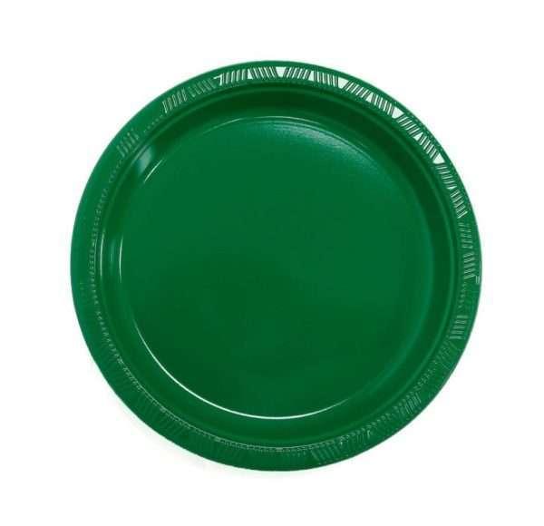 Plato Plástico Verde Esmeralda