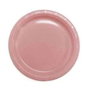 Plato Plástico Rosado