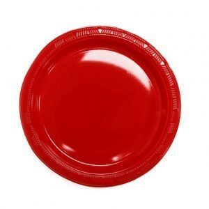 Plato Plástico Rojo