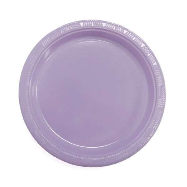 Plato Plástico Lila