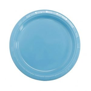 Plato Plástico Azul Celeste