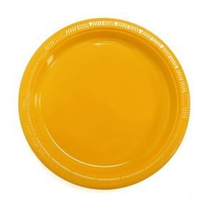 Plato Plástico Amarillo