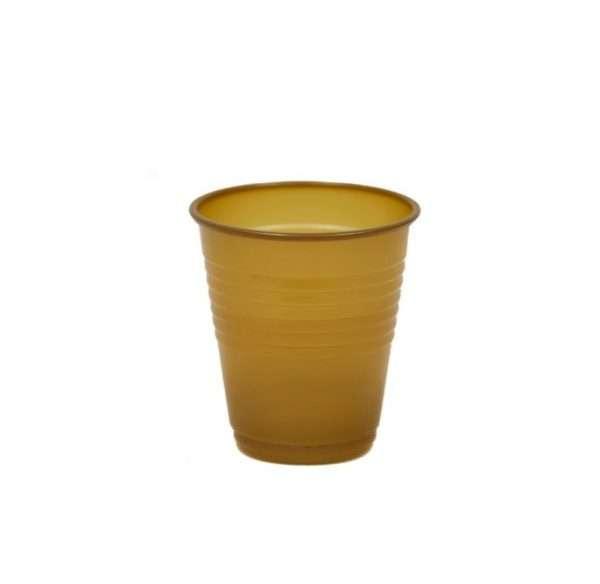 Vaso Plástico Dorado