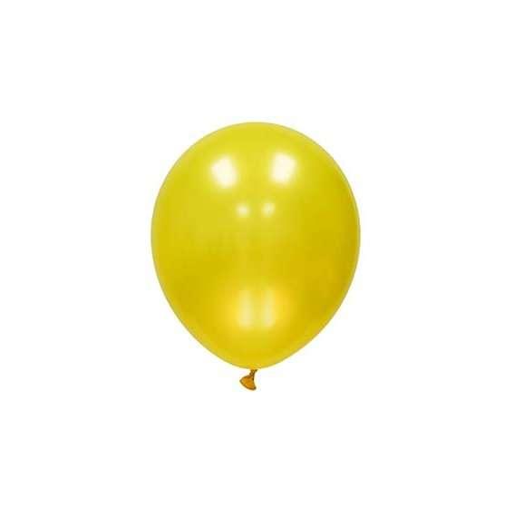 Globo Mini Amarillo Metalico
