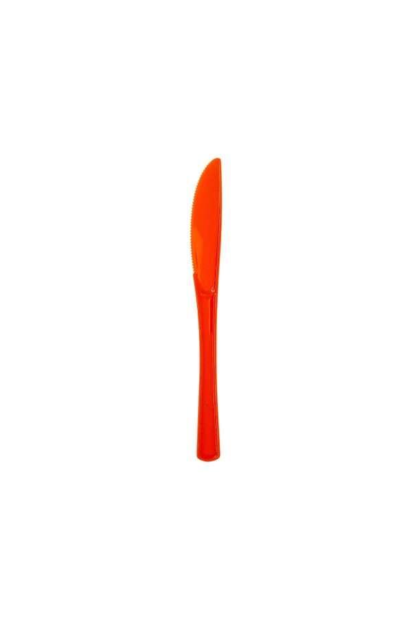 Cuchillo Plástico Naranja