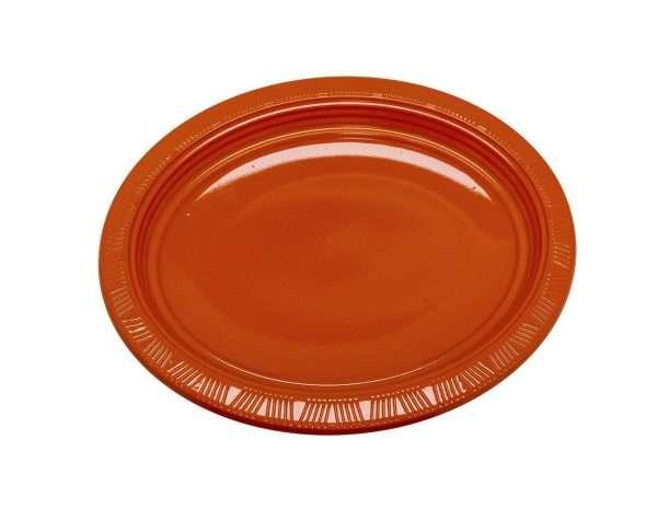 Plato Plástico Ovalado Naranja