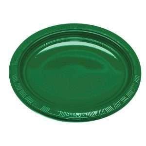 Plato Plástico Ovalado Verde Esmeralda