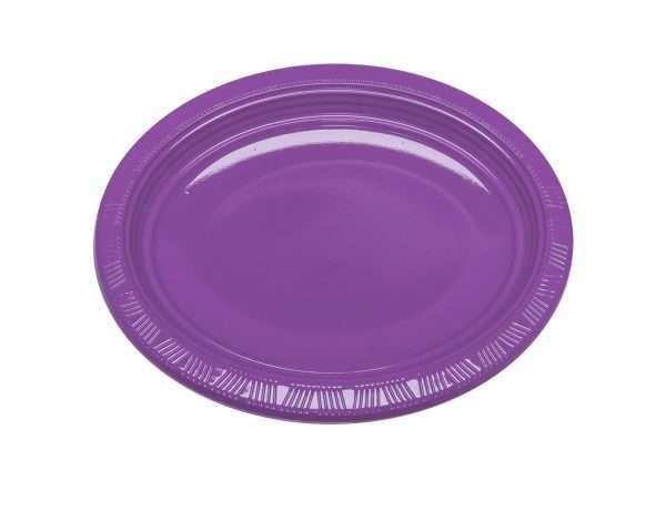 Plato Plástico Ovalado Morado