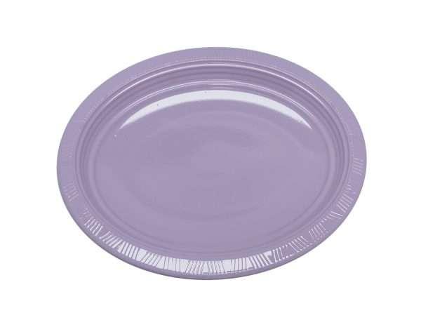 Plato Plástico Ovalado Lila