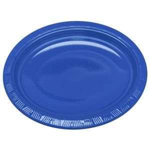 Plato Plástico Ovalado Azul Royal