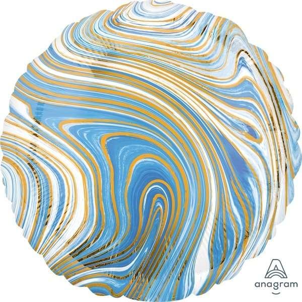 Globo Circulo Azul Marblez