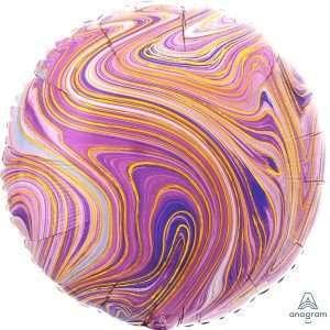 Globo Circulo Purple Marblez