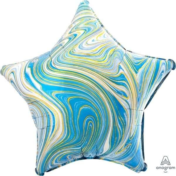 Globo Estrella Azul Marblez