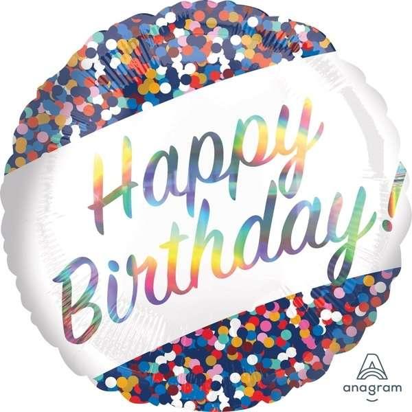 Globo Mylat Happy Birthday Confetti