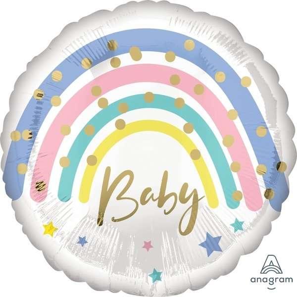 Globo Mylar Baby Rainbow