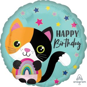 Globo Mylar Gato Happy Birthday