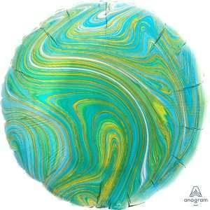 Globo Circulo Verde Marblez