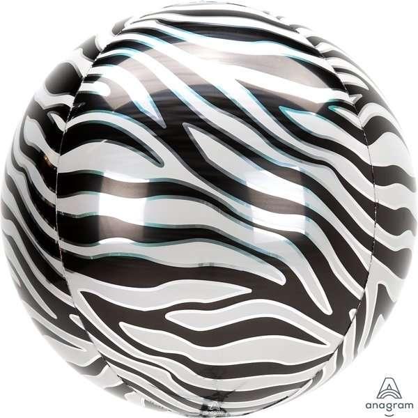 Globo Mylar Orbz Zebra