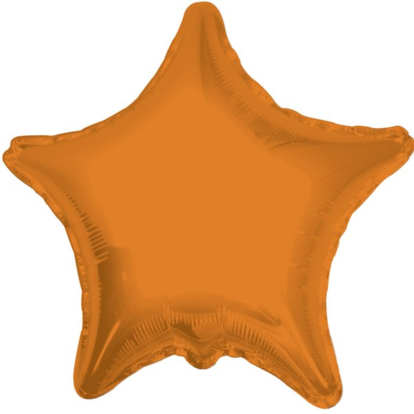 Globo Mylar Estrella Naranja