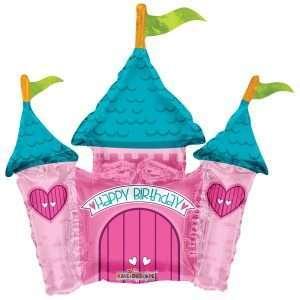 Globo Mylar Birthday Castle