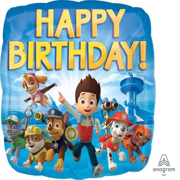Globo Mylar Paw Patrol Happy Birthday