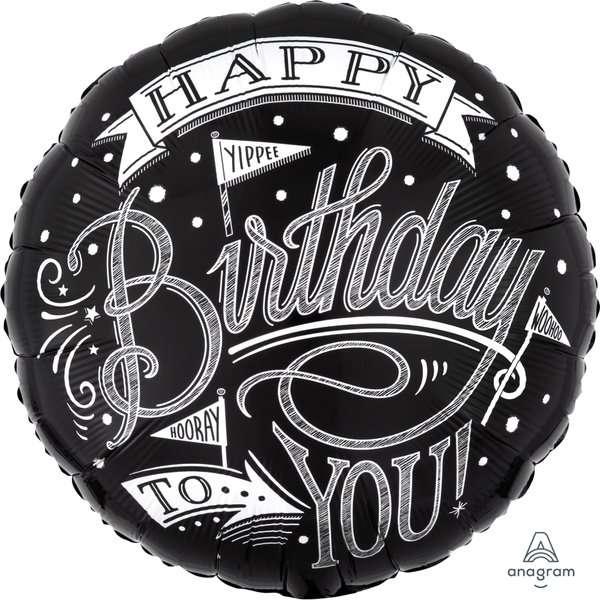 Globo Mylar Happy Birthday Negro