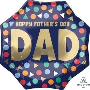 Globo Mylar Happy Father´s Day Dad Gigante