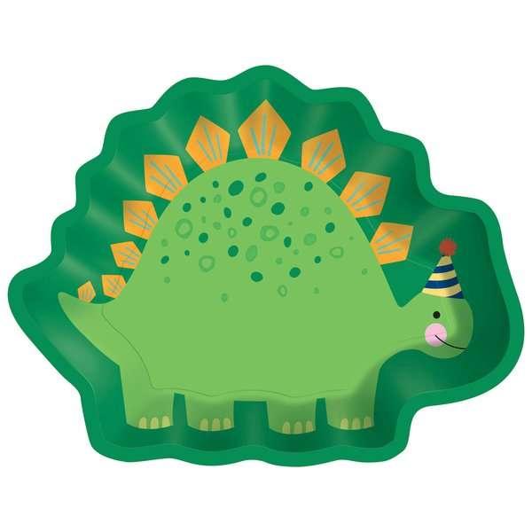Platos de Carton de Dinosaurio