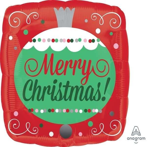 Globo Mylar Merry Christmas Bambalina
