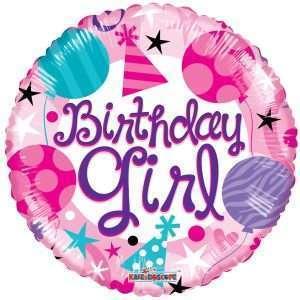Globo Mylar Birthday Girl